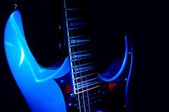 Blauwe Gitaar royalty-vrije stock afbeelding