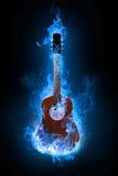 Blauwe gitaar vector illustratie