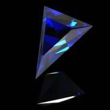 Blauwe glanzende gem Royalty-vrije Stock Foto