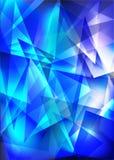 Blauwe glanzende techno royalty-vrije illustratie