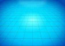 Blauwe glanzende vloer Stock Foto's