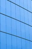 Blauwe glas en staalachtergrond Stock Foto