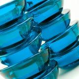 Blauwe glasabstractie Royalty-vrije Stock Afbeeldingen