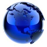 Blauwe glasbol Stock Foto's