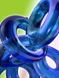 Blauwe glastoroids Royalty-vrije Stock Foto