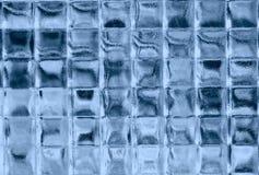 Blauwe glasvierkanten. Royalty-vrije Stock Foto
