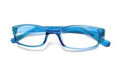 Blauwe glazen royalty-vrije stock afbeelding