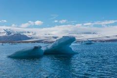 Blauwe gletsjer ijs-Jökulsà ¡ rlà ³ n lagune-IJsland Stock Foto