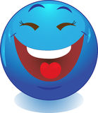 Blauwe Glimlach, glimlach, pictogram. Royalty-vrije Stock Foto's