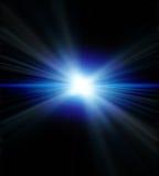 Blauwe gloed stock illustratie