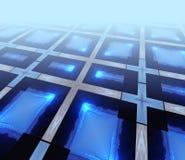 Blauwe gloedsamenvatting Stock Afbeeldingen