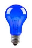 Blauwe gloeilamp Royalty-vrije Stock Foto's