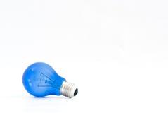 Blauwe Gloeilamp Royalty-vrije Stock Afbeeldingen