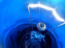 Blauwe gloeilamp Royalty-vrije Stock Afbeelding