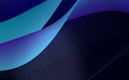 Blauwe golfachtergrond Stock Afbeelding