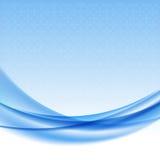 Blauwe golfachtergrond met halftone. Royalty-vrije Stock Foto