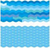 Blauwe golfachtergronden Royalty-vrije Stock Foto's