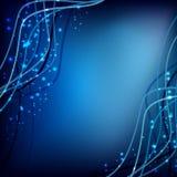Blauwe golfachtergronden Royalty-vrije Stock Afbeeldingen