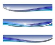 Blauwe golfbanner royalty-vrije illustratie