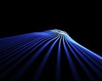Blauwe golven in perspectief Stock Fotografie
