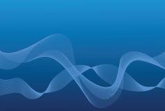 Blauwe golvenachtergrond Stock Afbeeldingen
