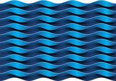 Blauwe Golvenachtergrond Royalty-vrije Stock Fotografie