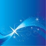 Blauwe golvende ster Stock Foto