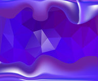 Blauwe golvende vectorachtergrond Royalty-vrije Stock Afbeelding