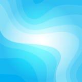 Blauwe golvende vectorachtergrond Stock Foto's