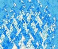 Blauwe golventextuur. Stock Afbeelding