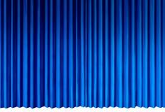 Blauwe gordijnen vector illustratie