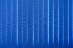 Blauwe gordijnenzonneblinden Royalty-vrije Stock Foto