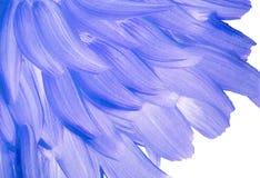 Blauwe gouache op Witboek Kleurrijke vlekken royalty-vrije stock foto's