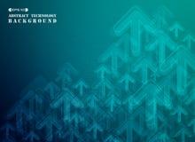 Blauwe gradiënt van verticale technologie futuristische bedrijfsbackgro royalty-vrije stock foto's
