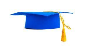 Blauwe graduatie GLB met gouden leeswijzer stock afbeeldingen