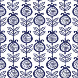 Blauwe granaat Bloemen patroon Stock Foto's