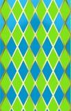 Blauwe/groene harliquin w/gold Stock Afbeelding