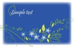 Blauwe groetkaart Royalty-vrije Stock Afbeeldingen