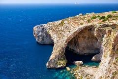 Blauwe Grot - één van aardoriëntatiepunten op Malta Stock Fotografie