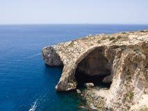 Blauwe Grot - Gozo, Malta Stock Afbeeldingen