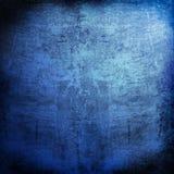 Blauwe grungeachtergrond Stock Foto