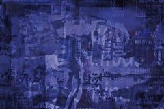 Blauwe grungeachtergrond Royalty-vrije Stock Foto's