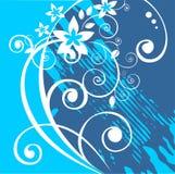 Blauwe grungeachtergrond royalty-vrije illustratie