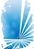 Blauwe grungebanner met witte achtergrond stock illustratie
