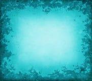 Blauwe grungegrens Stock Afbeeldingen