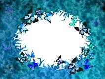 Blauwe grungegrens Stock Afbeelding