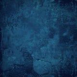 Blauwe grungemuur Stock Fotografie