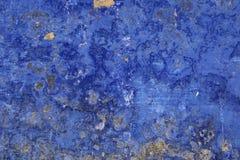 Blauwe grungemuur Royalty-vrije Stock Foto