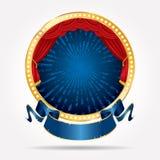 Blauwe grungeuitbarsting van het cirkelstadium Royalty-vrije Stock Foto's