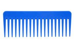 Blauwe haarborstel Royalty-vrije Stock Afbeeldingen